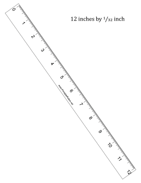 Monster image throughout printable rulers